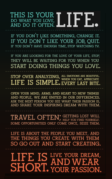holstee manifesto some amazing other stuff pinterest. Black Bedroom Furniture Sets. Home Design Ideas