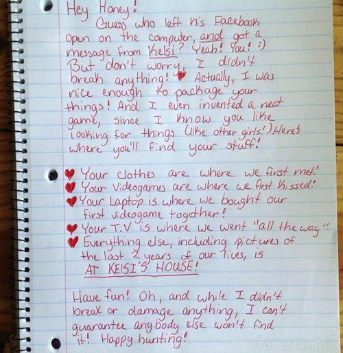 classic handwritten breakup letter